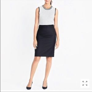 J. Crew No. 2 pencil skirt in double-serge cotton